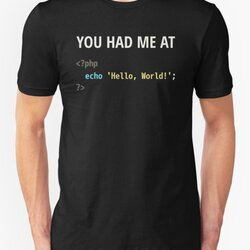 You Had Me At Hello World - PHP Programmer in Love Design