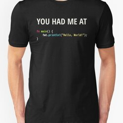 You Had Me At Hello World - Rust Programmer in Love Design