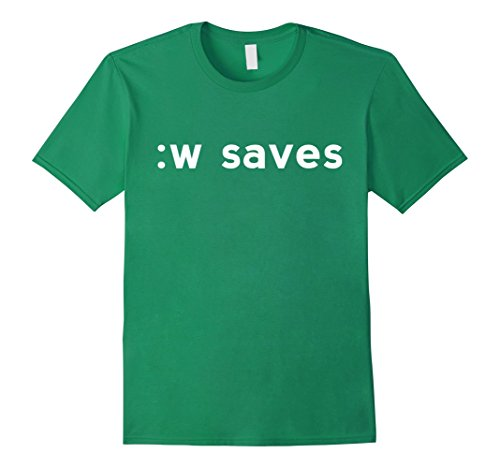 :w saves White Shirt for Users of the Text Editor Vi/Vim Kelly Green