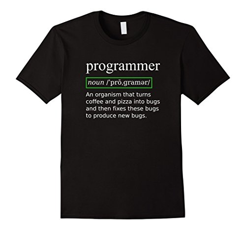True Programmer Definition T-Shirt Turning Coffee into Bugs Black
